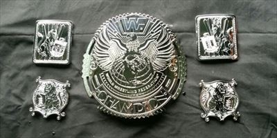 Chrome Plated WWE Championship Belt Pieces